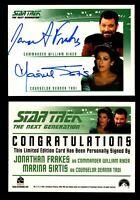 Star Trek TNG Quotable Dual Autograph Card Jonathan Frakes & Marina Sirtis