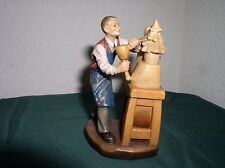 "ANRI, ULRICH BERNARDI CARVING COLLECTIBLE ""Master at Work"" 4"" 109/500, SIGNED"