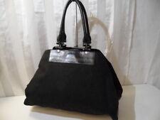 DKNY Donna Karan NY Monogram Black Canvas & Leather Tote bag Hand Shoulder Bag