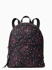 Kate Spade Nylon Quilted Large Backpack Karissa Black Tote Bag Wkru7054