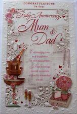 40th Wedding Anniversary Card ~  Mum & Dad Ruby Anniversary  FREE 1ST CLASS POST