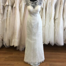 Lace Scoop Neck Regular Size A-line Wedding Dresses