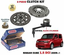 FOR NISSAN CUBE 1.5 DCI K9K Z12 1498cc 2009-> CLUTCH KIT WITH SLAVE CYLINDER