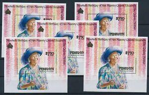[P15023] Penrhyn 1990 : Elizabeth II - 5x Good Very Fine MNH Miniature Sheet