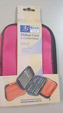 Birch Deluxe Crochet Hook Storage Case with Zip Closure Pink Vinyl 031137