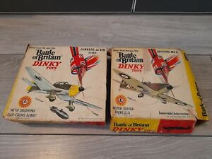 Box Only Vintage Dinky Battle of Britain 719 Spitfire & 721 Junkers JU87B Stuka