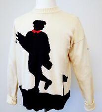 Men's Vintage SLAZENGER Golf Sweater sz L Large Cotton Pullover Long Sleeves