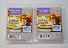 Better Homes & Gardens x2 Peaches and Cream Wax Cubes New 2.5 oz