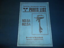 NISSAN TOHATSU M3.5A M2.5A OUTBOARD MOTOR ENGINE PARTS MANUAL BOOK