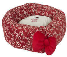 Rotonda Imbottita Caldo Rosso cucciolo di gatto e cane piccolo letto, Comfort
