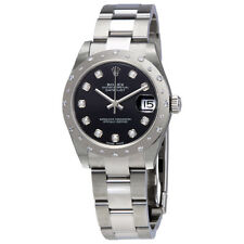 Rolex Oyster Perpetual Datejust 31 Black Dial Stainless Steel Bracelet