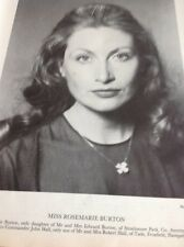 Ephemera 1981 Picture Miss Rosemarie Burton Co Antrim Mr1015