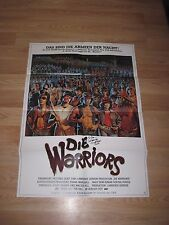 Vintage Die/The Warriors German Movie Poster/Signed By Michael Beck/Free Ship!