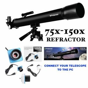 """PRO 150X TELESCOPE + 60"""" TRIPOD FOR  LUNAR AND FOR STAR OBSERVATION + PC CAMERA"""