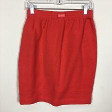 St John Sport Women Skirt Sz Small Stretch Unlined Sweathshirt Fabric Orange Red