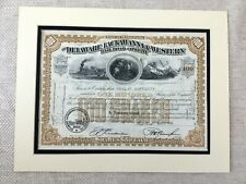More details for american railway stock certificate delaware lackawanna and western railroad