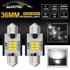 Error Free 36MM LED Car Interior Dome Map Marker License Plate Light Xenon White