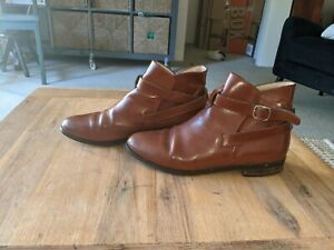 Bally Brown Leather Ankle Boots