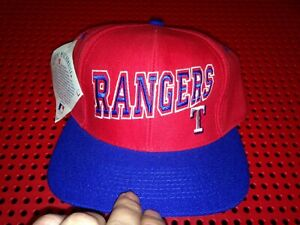 Vintage Twins Enterprise Texas Rangers snapback hat NWT spell out