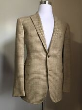 NWT $2395 Ralph Lauren Purple Label Men Sport Coat Blazer LT Brown 42R US Italy