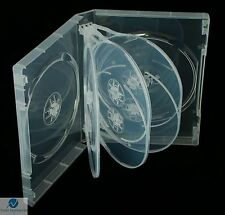 1 x 8 Way Clear DVD 27mm Spine Holds 8 Discs Empty Brand New Replacement Case