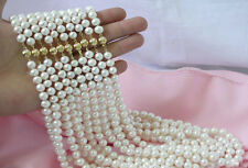 """Wholesale 10 Strands 7-8MM White Akoya Cultured Pearl Necklace 18"""" AA+"""
