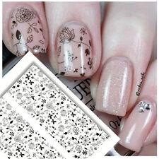NICOLE DIARY Nail Art Water Transfer Decal Manicure Sticker Flowers Pattern