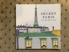 Secret Paris Adult Coloring Book Soft Cover Color Relax Stress Relief Therapy