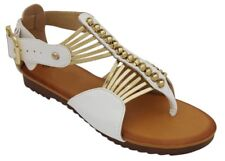WOMENS THONG OPEN TOE STRAPPY SANDALS BLACK CAMEL WHITE 5 6 7 8 9 10 11
