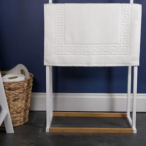 750 GSM Greek Key Bath Mat, 100% Luxurious Rich Cotton, Free UK Delivery