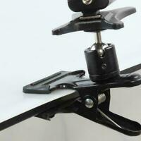 """Spring Ball Head Holder Mount Clip Clamp 1/4"""" Screw Compact For DSLR Y9R7 L6H0"""