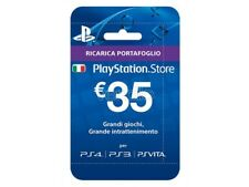SONY PSN HANGING CARD 35 EURO PLAYSTATION NETWORK - CARDS/DLC