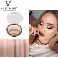 Miss Rose Rainbow Color Highlighter Bronzer Powder Eye Shadow Kit Lazy Makeup