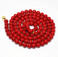 New fashion 8mm red coral round beads necklace 36''