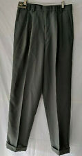 Dockers Men Size 30x30 Pleated Front Dress  Pants Olive Green