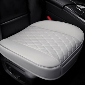 Car Gray Front Seat Cover Full Surround Breathable PU Leather Pad Chair Cushion