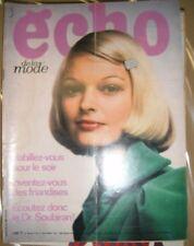 Echo de la mode N° 49 1971 Patron Mode vintage Couture Robe Tricot Enfant 70'