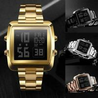 Men's Watch Waterproof LED Digital Wristwatch Stainless Steel L4R3