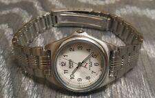Vintage PUMA Damen Armbanduhr Edelstahlarmband 5ATM 80-90er