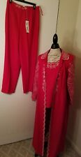 Lisa Rene Womens 3 piece Pant Suit in Red - size 8
