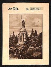 Detmold Hermannsdenkmal , alte Erlaubniskarte zur Besteigung, ca. 1910  #H511