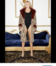 ** FAUX FUR** BY SACHI-Beautiful Leopard Skin Style With A Ruby Collar