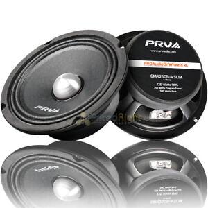 "PRV 6.5"" Mid Range Bullet Speakers Shallow 500W Max 4 Ohm 6MR250B-4 Slim 2 Pack"