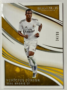Vinicius Junior Base No. 62 /99 2020 Panini Immaculate Soccer Real Madrid Brazil
