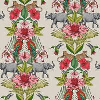 COLONIAL ELEPHANT JUNGLE WALLPAPER MULTI RASCH 270419 - FEATURE WALL NEW