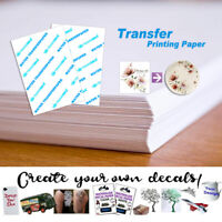 5/10/20PCS A4 Inkjet Waterslide Decal Clear Paper 8.3*11.7in Transfer Paper Hot