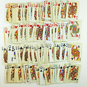 QUEEN Playing Cards, 100 Cards - Junk Journal Supplies, Ephemera, Collage