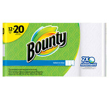 Bounty Select-a-Size Big Roll Paper Towels 105 sheets 12 mega rolls = 20 Rolls