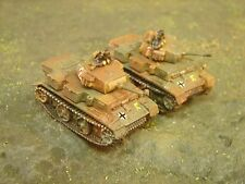 Painted Flames of War - German Panzer IIL HQ Plt (2 tanks with Co)