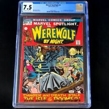 Marvel Spotlight #4 (1972) 💥 CGC 7.5 💥 1st Buck Cowan! Werewolf By Night Comic